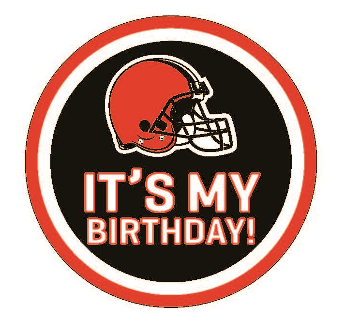 Browns Birthday Pin